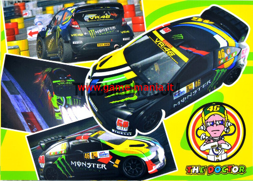 Set adesivi carrozzeria replica VR46 per drift e rally 1:10
