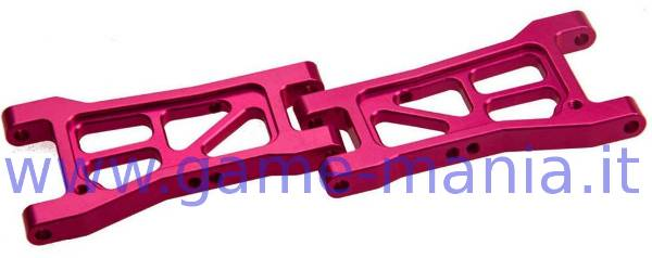 Bracci POSTERIORI inferiori IN LEGA fuxia per Sakura D4 by 3Racing