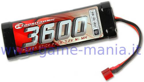 3600Mah stick pack 7,2V Ni-Mh battery Tamiya conn. by Robitronic