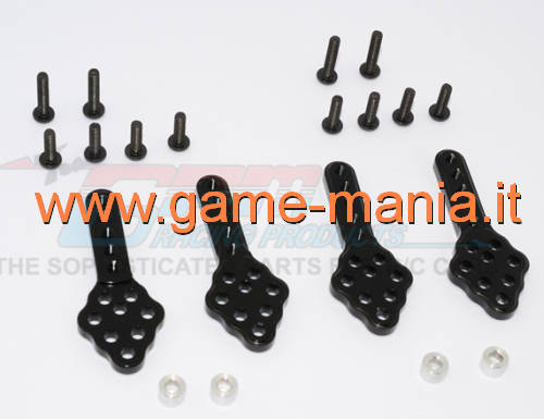 SCX-10 shock lift or relocation BLACK supports (x4) by GPM