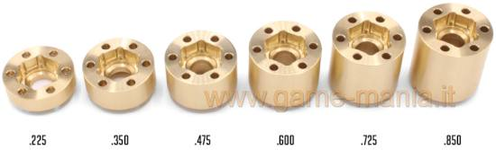 Hubs in OTTONE (2) misura 725 per cerchi OMF e SLW by Vanquish Products