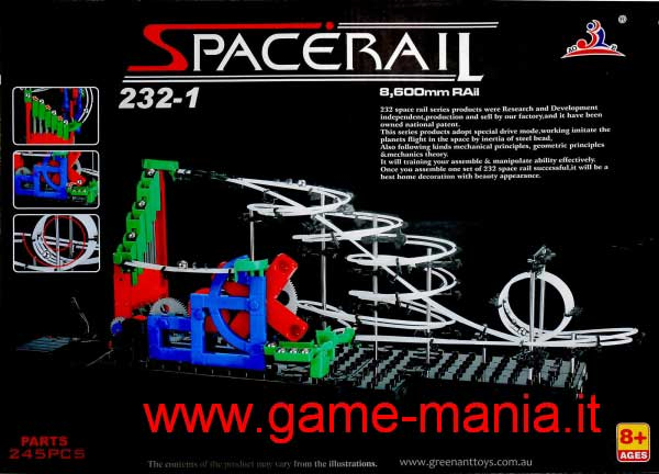Spacerail 232-1 - montagne russe casalinghe in kit !