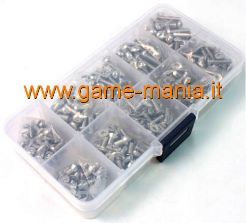 Set di 400pz di viteria IN ACCIAIO INOX da 3mm by Yeah Racing
