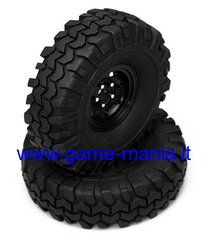 "Coppia gomme 1.55"" ROCK STOMPERS con inserti by RC4WD"