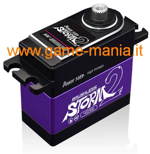 37Kg servo brushless STORM-2 / 7,4V ingranaggi titanio/alluminio by PowerHD