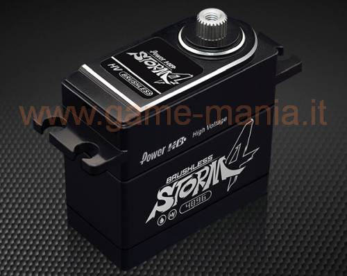 25Kg servo brushless STORM-4 - 7,4V ingranaggi titanio/alluminio by PowerHD