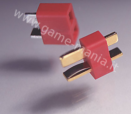 Pair of like-Deans T-plug connectors male + female