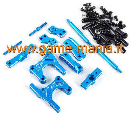 Conversione a 4 links IN LEGA BLU x Tamiya CC-01 by Yeah Racing