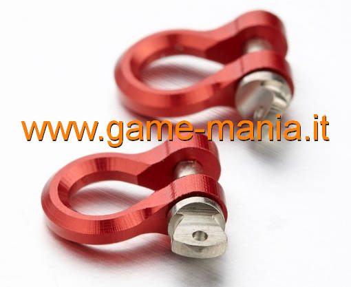RED ALLOY 1/10 scale mini tow hooks (x2) by TFL