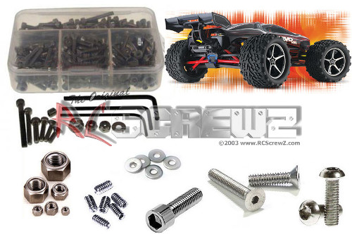 INOX steel complete screw set for the Traxxas E-Revo VXL 1:16 by RCScrewz