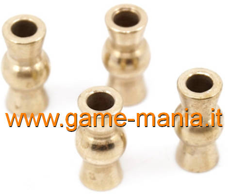 Flanged BRASS spheres for uniballs Traxxas TRX-4 by Yeah Racing