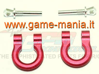 RED ALLOY TRX-4 or other 1/10 scaler tow hooks by GPM