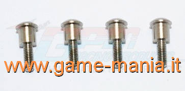 INOX steel kingpins for C-Hubs of TRaxxas TRX-4 by GPM