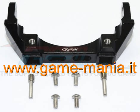 BLACK ALLOY rear bumper support for Traxxas TRX-4 by GPM