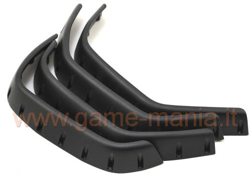 Black nylon fender flares (4x) for TRX-4 by Traxxas
