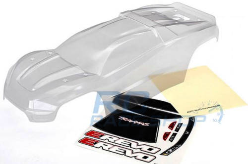 Clear lexan E-Revo 2.0 1/10 scale body by Traxxas