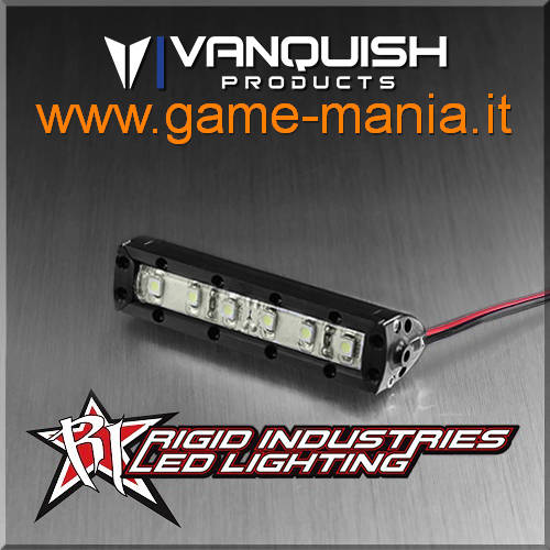 Barra frontale led SMD 60mm IN LEGA NERA Rigid Ind. by Vanquish Products