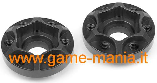 225 size BLACK alloy hubs for SLW and OMF rims by Vanquish Products