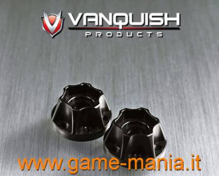 475 size BLACK alloy hubs for SLW and OMF rims by Vanquish Products