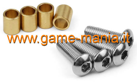Brass knuckle bushings (4x) for Axial SCX-10 II by Vanquish Products