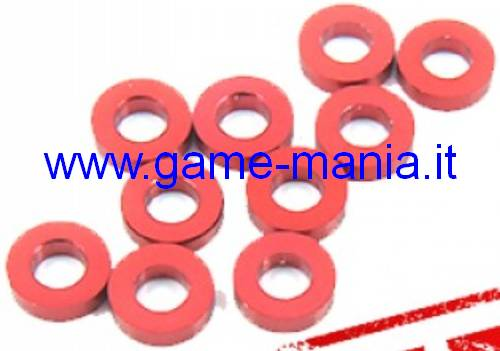 Aluminum 1.50 thickness x 3mm int.diameter washers (10x) by X-Grip