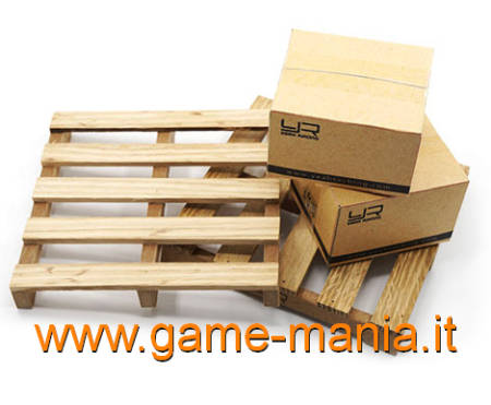 Bancali (2 pallet) in legno e 2 cartoni in scala 1:10 per modelli by Yeah Racing