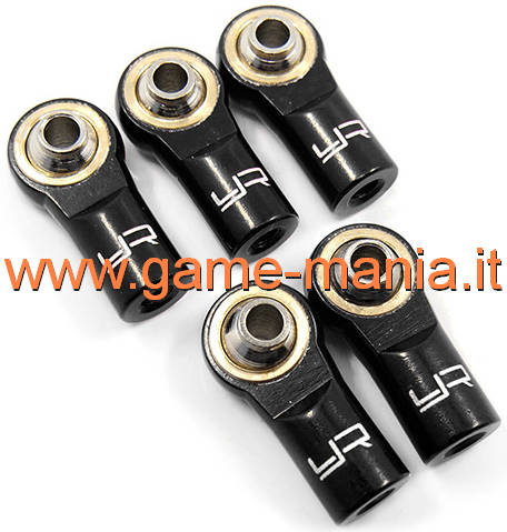 Giunti (5) uniball IN LEGA NERI da 20mm per barre M3 by Yeah racing