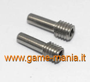 Pins in acciaio filettati M4x2,5x12mm (2pz) by GPM