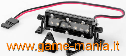 Barra CORTA bumper 14 luci IN LEGA NERA a LEDS by RC4WD