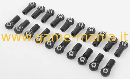 Giunti uniball DRITTI da 22mm M4 sfera flangiata 3mm (20pz) by RC4WD