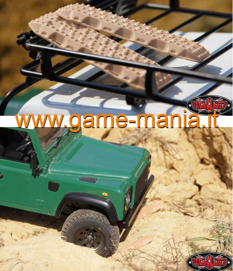 Piastre sabbia BEIGE 1:10 in nylon MAXTRAX by RC4WD