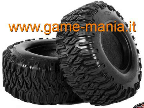 "Pair of 2.2"" BAJA MTZ tires with inserts by RC4WD"