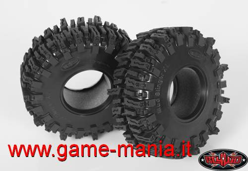 Pair of 2.2 MUD SLINGERS 2 XL tires with inserts by RC4WD