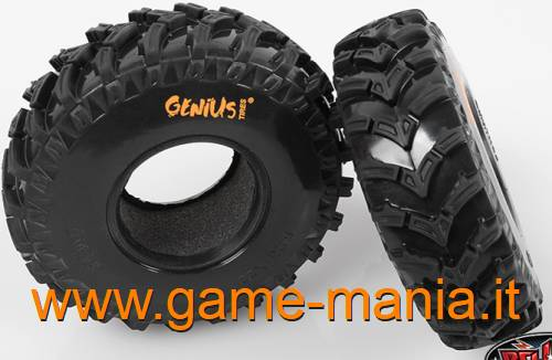 "Pair of 2.2"" GENIUS SEM FRONTEIRA tires with inserts by RC4WD"