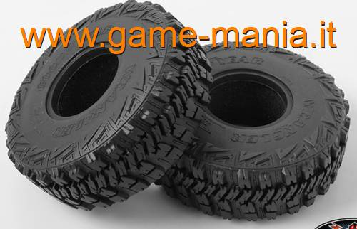 "Pair of 2.2"" Goodyear WRANGLER MT/R tires with inserts by RC4WD"