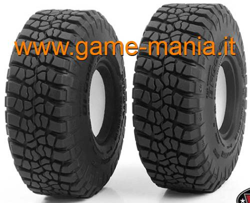 Pair of 1.9 BFGoodrich T/A KM2 tires with inserts by RC4WD