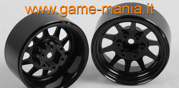 "4x 1.9"" OEM BLACK stamped steel beadlock rims by RC4WD"