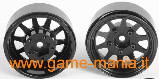 "4x 1.55"" steel beadlock OEM rims BLACK EDITION by RC4WD"